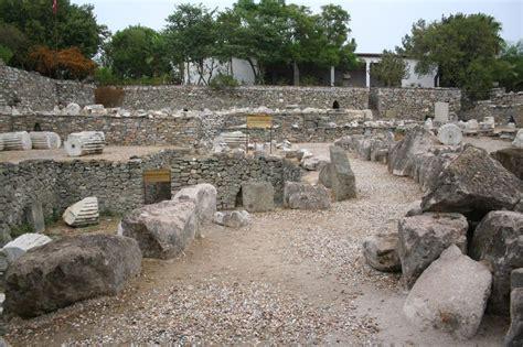 mausoleum  halicarnassus bodrum turkey travel