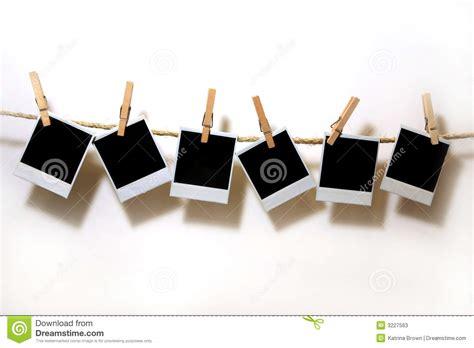 hanging photos hanging vintage polaroid paper stock image image 3227563