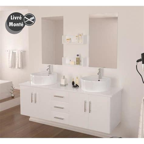 salle de bain 2 vasques ensemble salle de bain vasque 150 cm achat vente ensemble meuble sdb