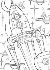 Coloring Pages Space Sheets Kleurplaat Fun Colouring Adult Books Sterren Tekeningen Endless Hours Play Supersized These Lillelykke Planeten Prints Xl sketch template
