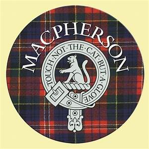 United States Ring Size Chart Macpherson Clan Crest Tartan Cork Round Clan Badge
