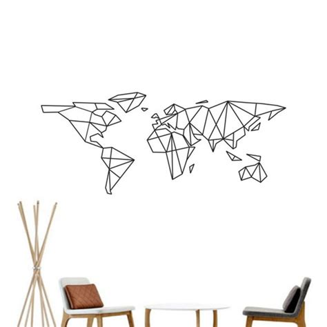 Carte Du Monde Geometrique Sticker by Achetez En Gros G 233 Om 233 Trique Motifs Muraux En Ligne 224 Des
