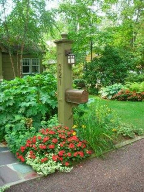 ideas for landscaping around mailbox gardens