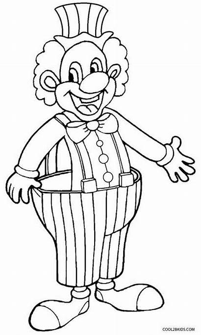Clown Coloring Pages Happy Drawing Evil Draw