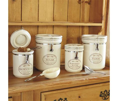 Rustic Kitchen Canisters by Flute And Sugar Rustic Kitchen Canisters Farmhouse