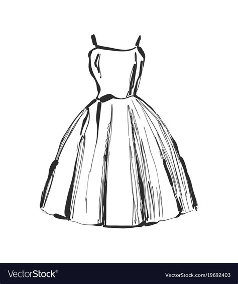 dress drawing hand drawn clothes sketch royalty  vector