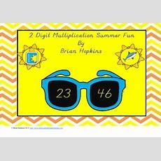 Sunglasses Themed 2 Digit By 2 Digit Multiplication Summer Fun Games