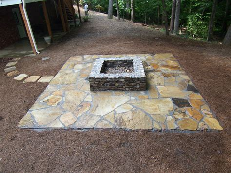 pit on patio charming fire pit ideas on rectangular patio also in ground pictures hamipara com