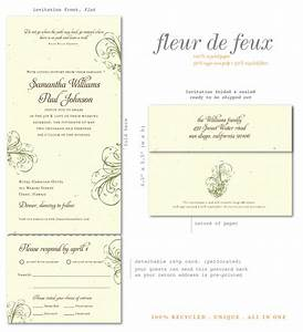 recycled wedding invitations fleur de feux brides With all in one wedding invitations recycled