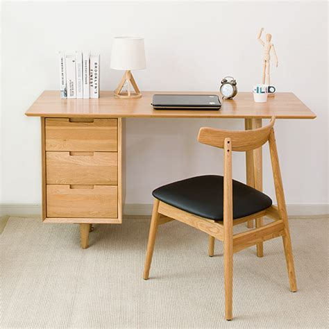 bureau bois massif moderne nordic bois massif pur chêne bureau 1 4 m moderne et