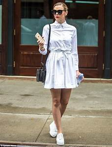 Jaime King dons white dress and trainers as she hits up a ...