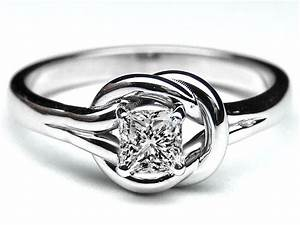 engagement ring princess diamond love knot solitaire With love knot wedding ring