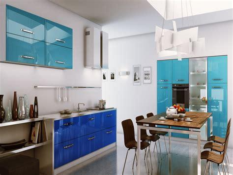 white kitchen blue accents ideas