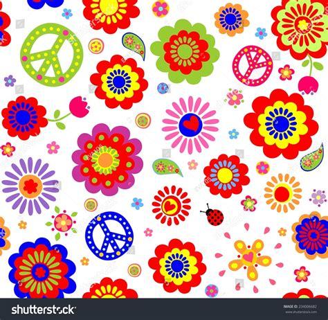 hippie bloemen hippie wallpaper abstract flowers stock vector 234006682
