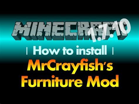 mod installer how to install mrcrayfish s furniture mod 1 7 10 for Furniture