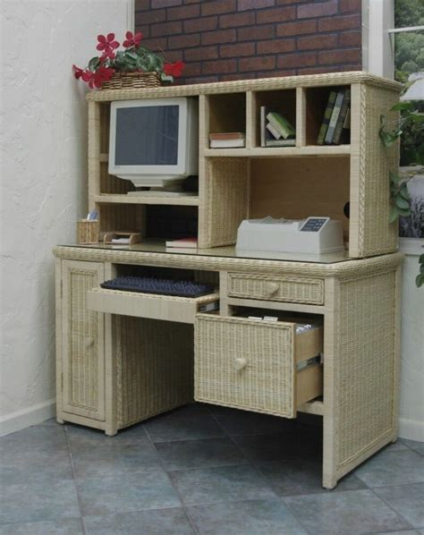 Work Desk by Executive Wicker Computer Work Desk Desk Only