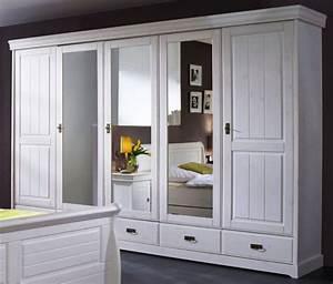 Schrank Landhausstil Weiß : schrank kleiderschrank 5t rig spiegelt ren schubladen landhausstil kiefer massiv schlafzimmer ~ Indierocktalk.com Haus und Dekorationen