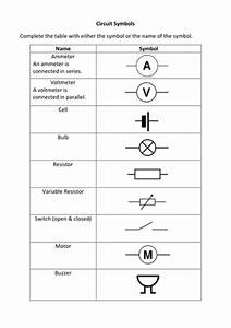 Circuit Symbols Exercise By Liamfricker