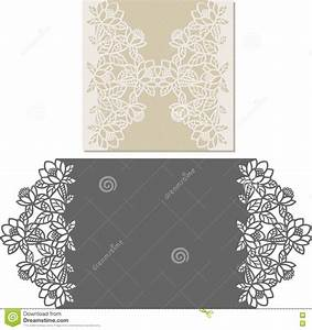 laser cut envelope template for invitation wedding card With laser cut wedding invitations vector free
