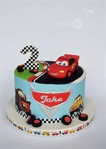 Lighting Mcqueen Birthday Party Ideas Lightning Mcqueen Cake Cherry Red Cake Pinterest