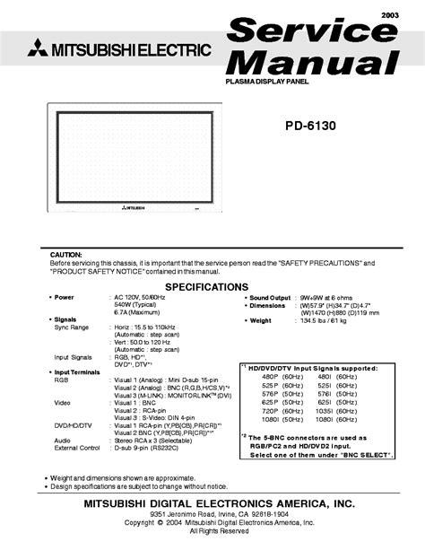 Mitsubishi Hc4000 Manual by Mitsubishi Tc 1409 2009 Sch Service Manual Free
