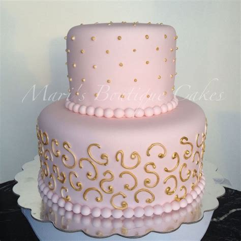 pink and gold baby shower cake pink and gold baby shower cake by mari s boutique cakes