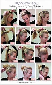 Hair Tutorial Messy Bun With Pompadour She Christina