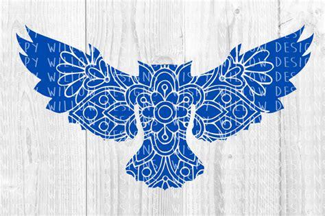 Elsa anna flowery mandala svg. Owl Floral Mandala SVG/DXF/EPS/PNG/JPG/PDF By Wispy Willow ...