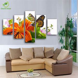 3d Wall Art : 2015 new 3d modern butterfly on the wall flower painting wall canvas art wedding decoration ~ Sanjose-hotels-ca.com Haus und Dekorationen
