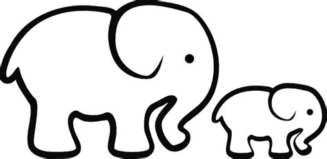 elephant clipart black and white best elephant clipart outline 27695 clipartion