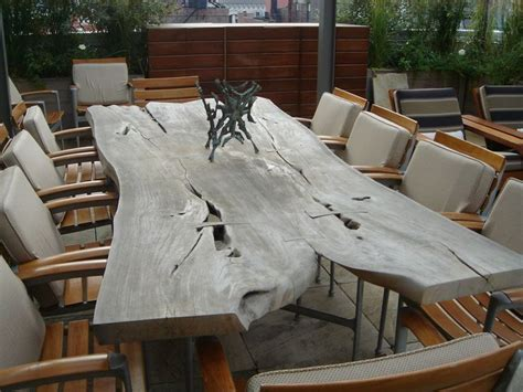 grey tablestdibs  long  form ipe wood slab