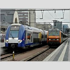 French Trains Pictured At The Station Of Luxembourg City On June 6th, 2009 Railpicturescom