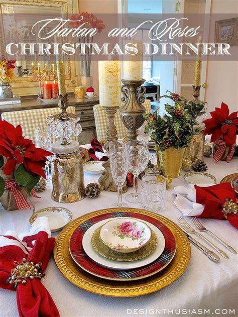 tartan  roses christmas dinner