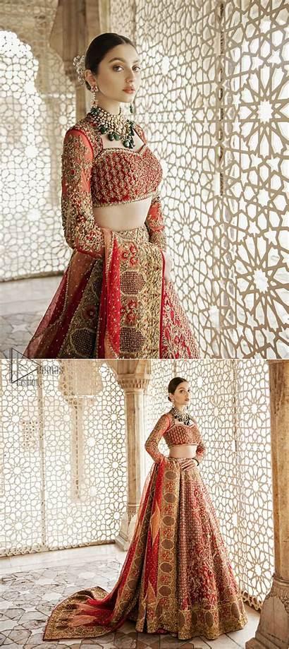 Lehenga Traditional Blouse Pakistani Bridal Patterns Deemasfashion