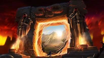 Portal Dark Through Warcraft Fantasy Wow Classic
