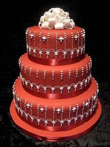 Beautiful Bridal: Red and White Wedding Cakes