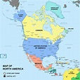 Map of an Alternate North America with a few Border ...