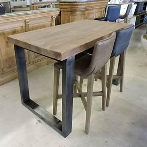 Table Haute Design : table haute cdiscount maison design ~ Teatrodelosmanantiales.com Idées de Décoration