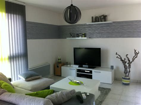 deco salon contemporain gris
