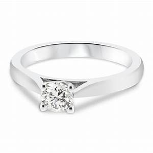 18ct white gold 04ct round brilliant cut diamond vintage With wedding band for vintage engagement ring