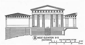 Acropolis, Propylaea: reconstruction elevation from the we ...