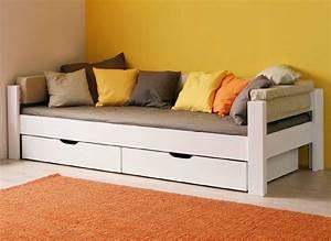 Lit 90 Ikea : lit banquette enfant en h tre massif 90 x 200 cm de ~ Premium-room.com Idées de Décoration