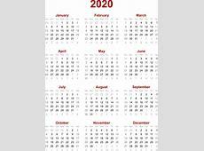 Calendar 2020 Printable 2018 calendar Free Download USA