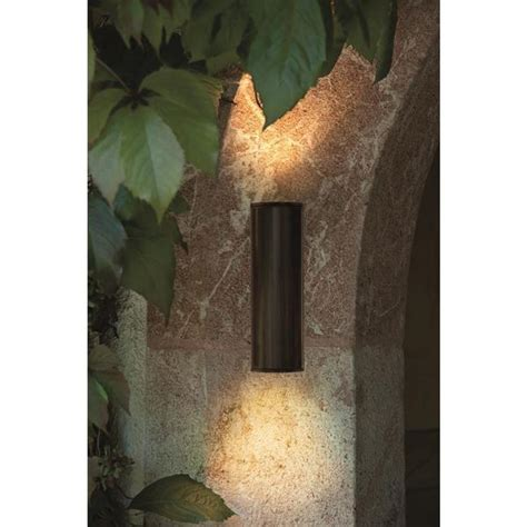 eglo 94105 riga led outdoor brown 2 l up down wall light discount home lighting