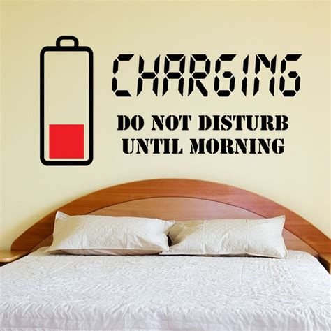 Quotes For Bedroom Wall by Charging Do Not Disturb Wall Sticker Wall Quote Decal