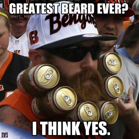 Cincinnati Bengals Memes - this bengals fan deserves a medal for his beerd http makecoolmeme com nfl meme this bengals