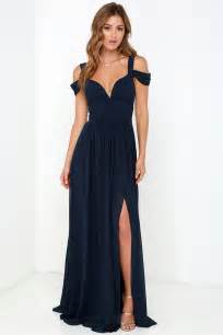 navy blue bridesmaid navy blue dress maxi dress cocktail dress prom dress bridesmaid dress 179 00