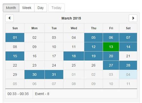 pure angularjs responsive calendar directive angular script
