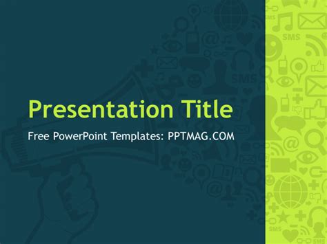 digital marketing powerpoint template pptmag