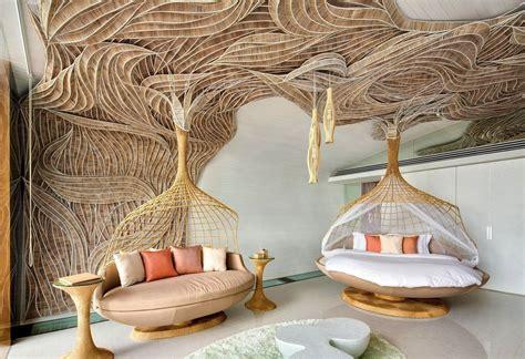 desain plafon bambu sederhana berkonsep modern